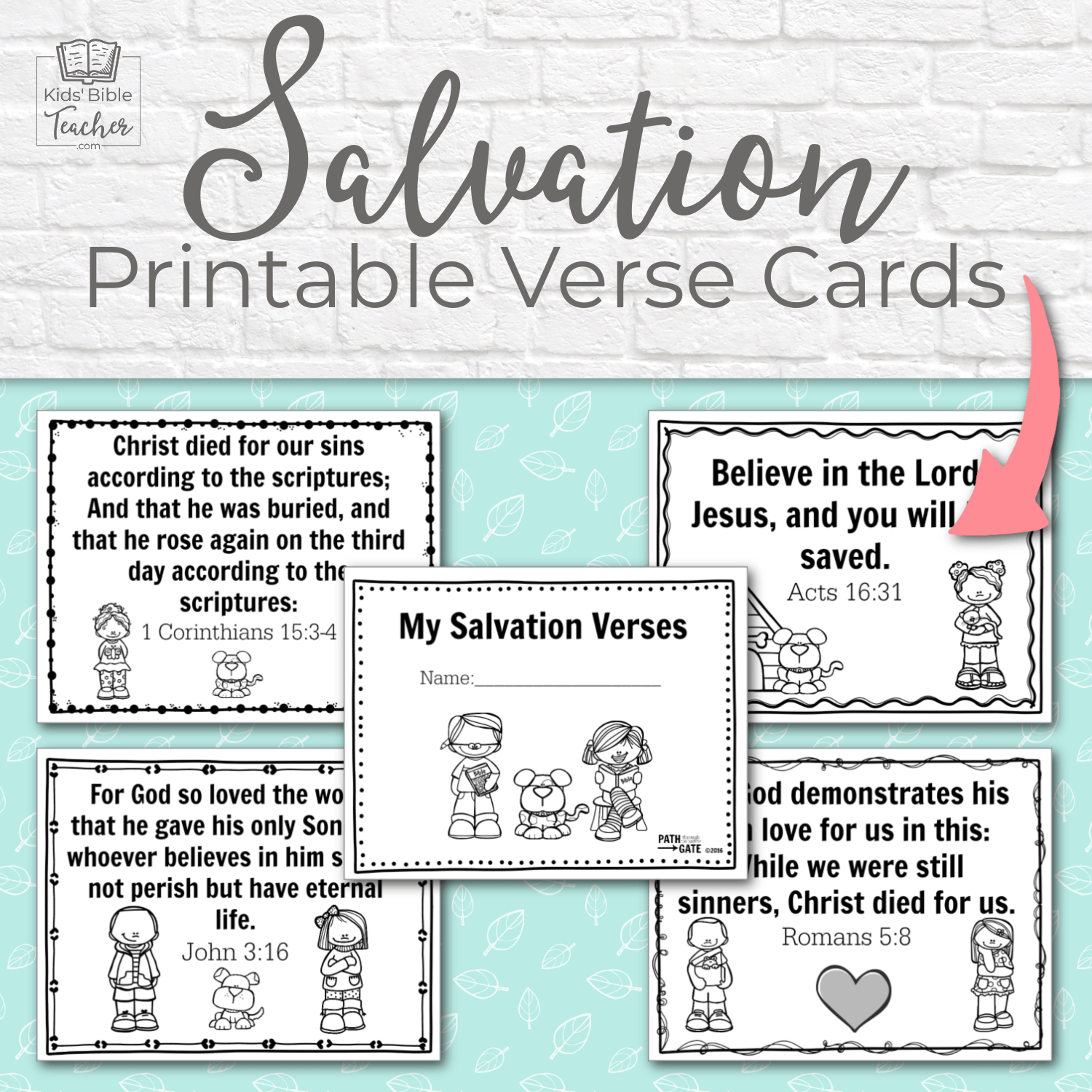 These free printable verse cards are a perfect way to share the Gospel with your kids, or to hand out to kids visiting your Sunday School or Awana.