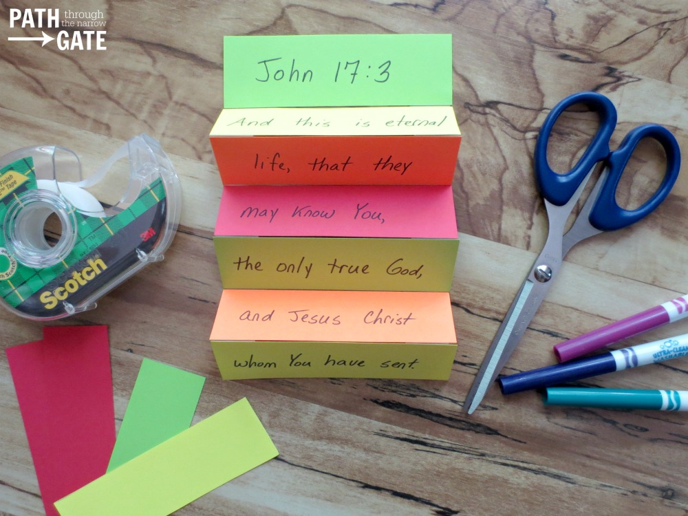 Here's a fun Bible verse craft perfect for encouraging kids to memorize Bible verses at home, in Sunday school, or during Awana.