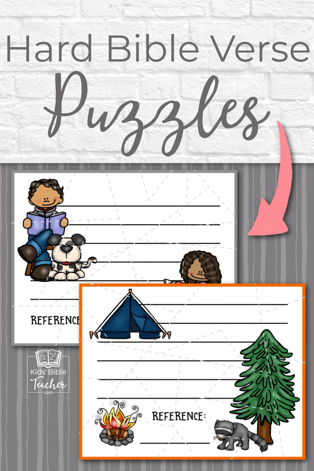 These Bible verse puzzles are a great way for older kids to work on a memory verse. (And, they're great to have on hand for a last minute class project!)