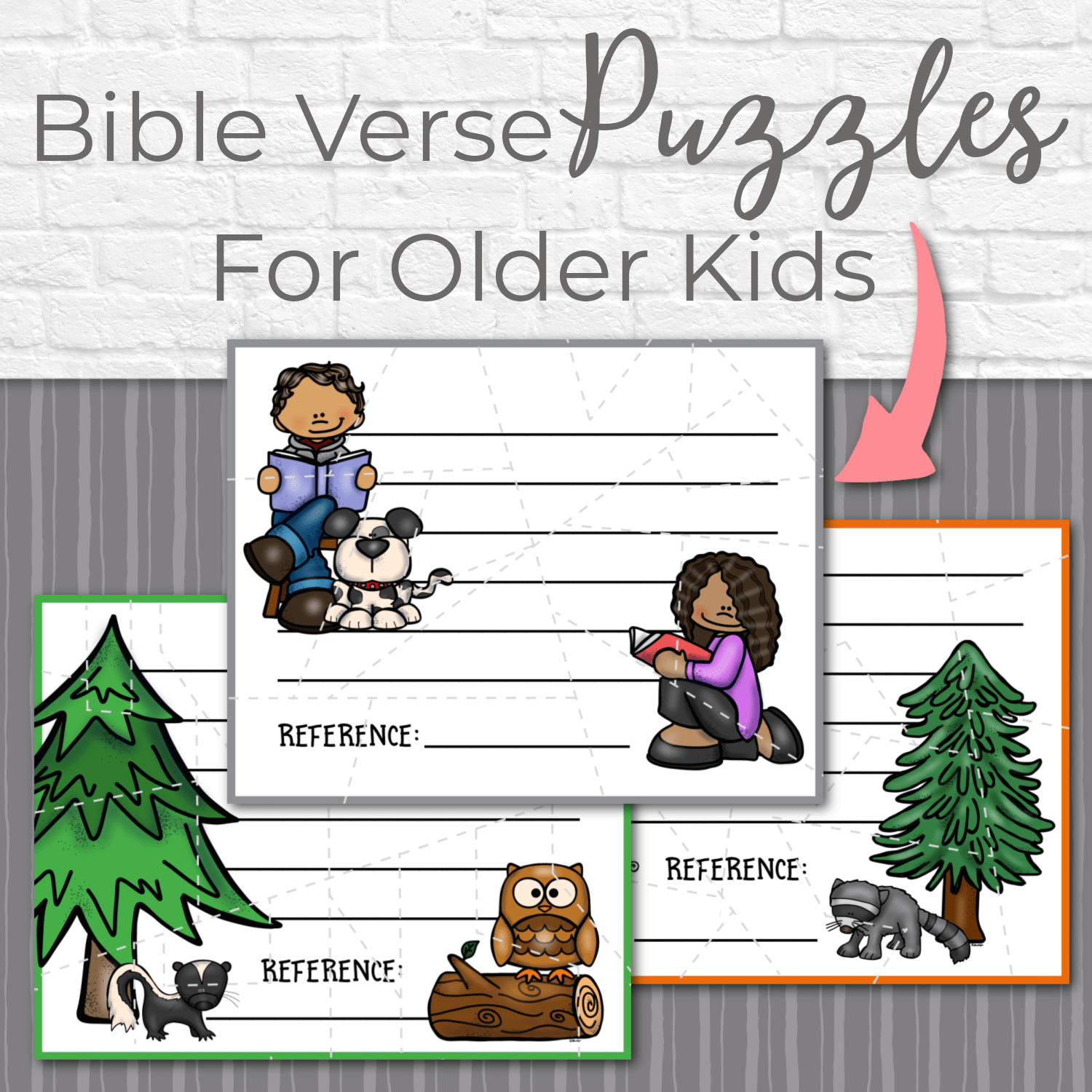 I love these Bible verse puzzles for older kids - They are a great way for kids to work on a memory verse. (And, they're great to have on hand for a last minute class project!)