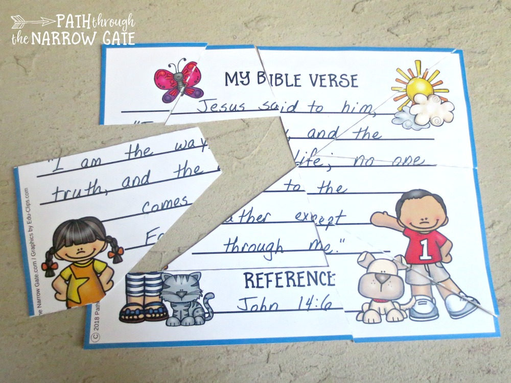 Want to help your kids memorize a Bible verse? These printable Bible verse puzzles make Bible memory easy and fun - and they can be used with any verse!