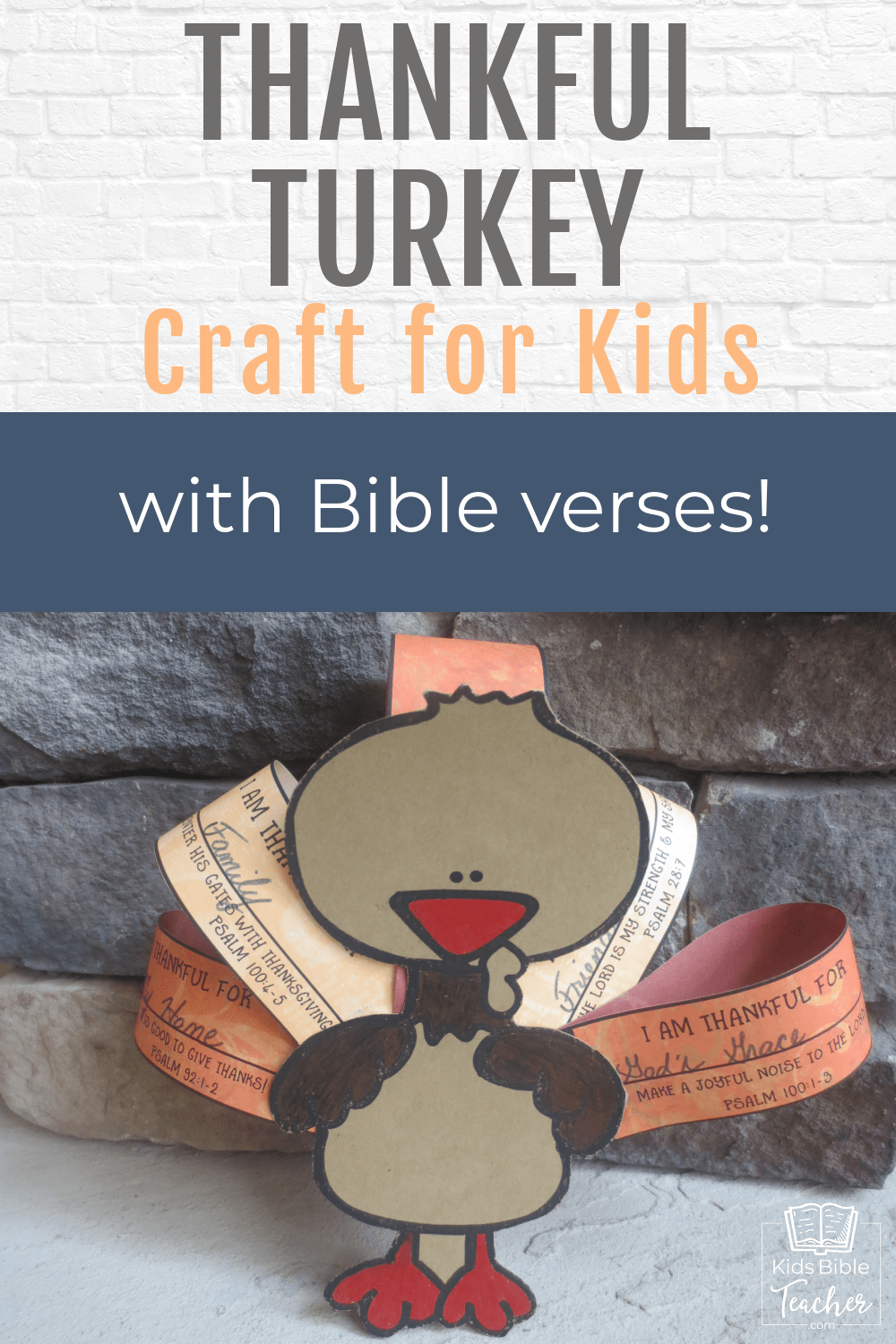 Encourage your kids to give thanks to God this Thanksgiving - with this friendly Thankful Turkey craft. Thanksgiving Crafts for Kids.