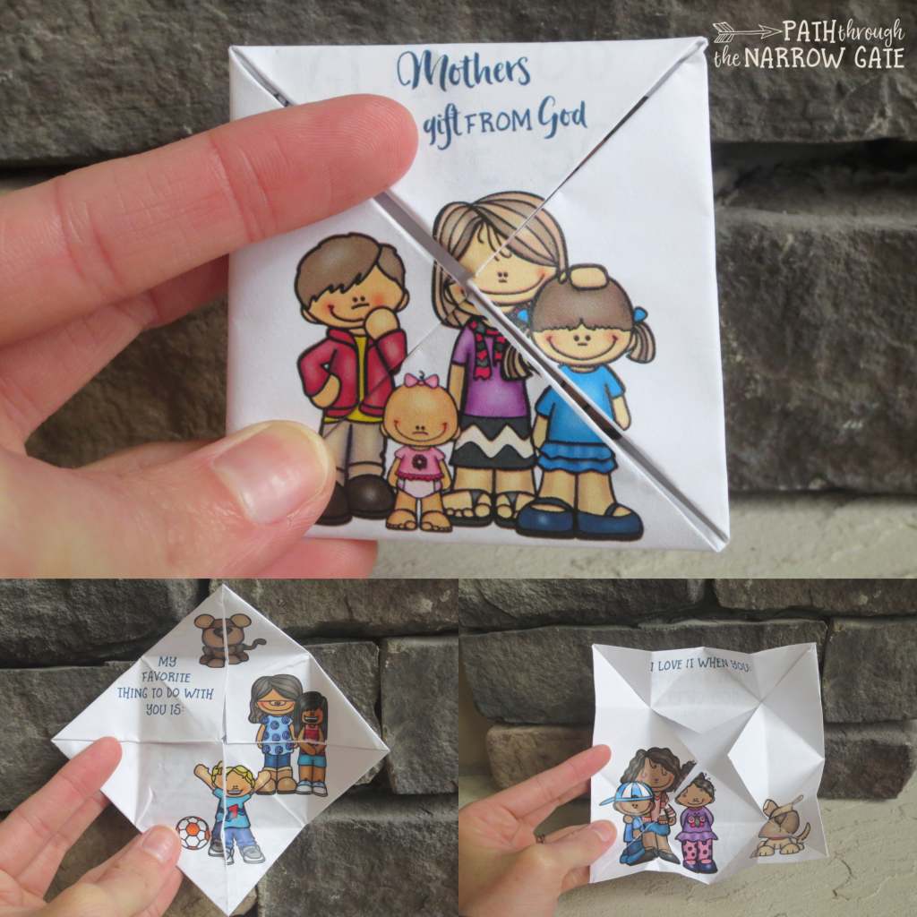 Here's a fun foldable puzzle Mother's Day Card that opens up one layer at a time to reveal new pages and messages - great for Sunday School or classroom use