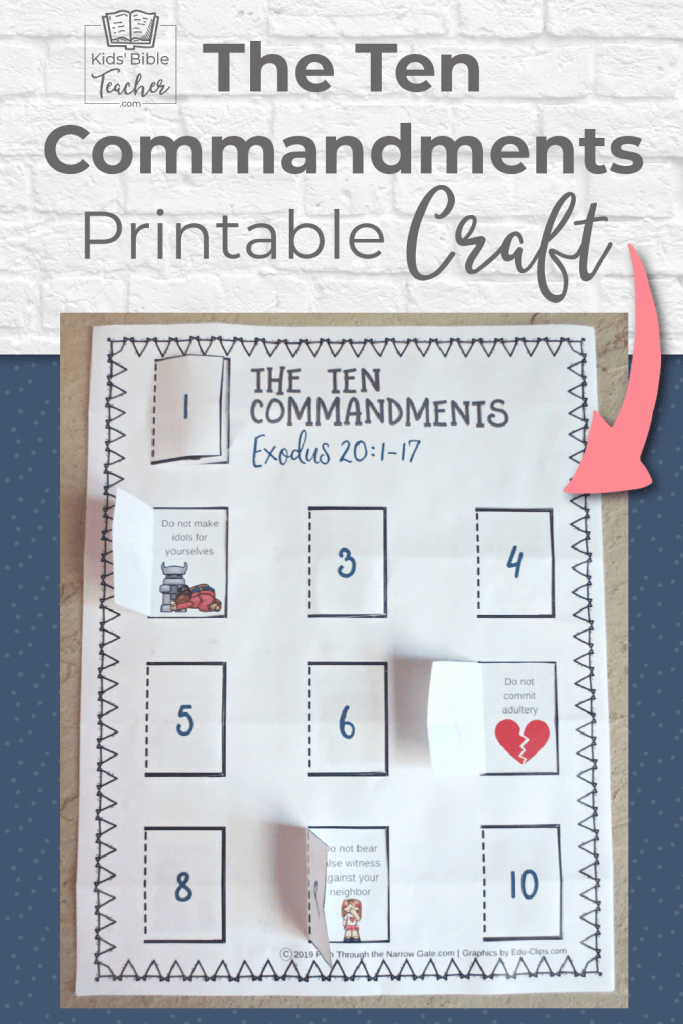This free printable Ten Commandments Craft is a great way to introduce kids to God's Ten Commandments - Easy to make and perfect for home or Sunday School.