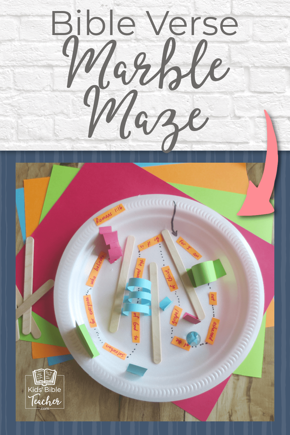 Looking for a super-fun, Sunday School craft that boys and girls will love? Try this Paper Plate Bible Verse Marble Maze. - This is such a cool idea!