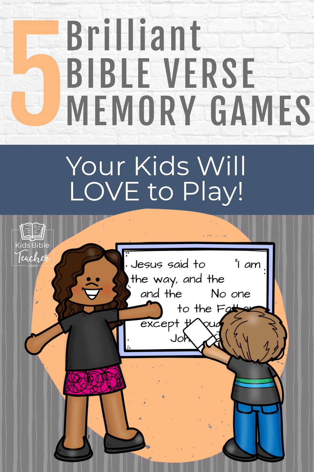Help your kids memorize Bible verses with these Brilliant Bible Verse Memory Games that your kids will BEG to play again and again!