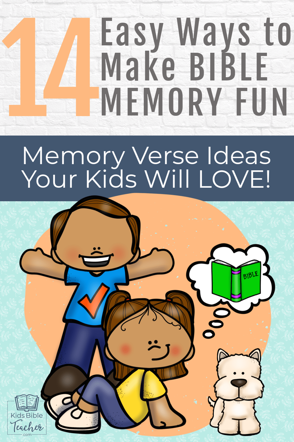 Make Bible Verse Memory fun with these 14 Easy Memory Verse Activities your kids will LOVE - no matter your kids' learning styles!